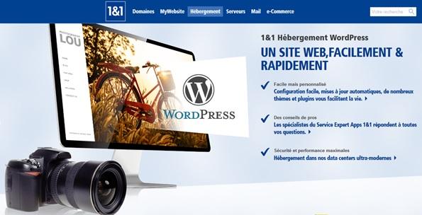 Hébergement WordPress 1and1