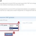 Gérer les version php sur 1and1