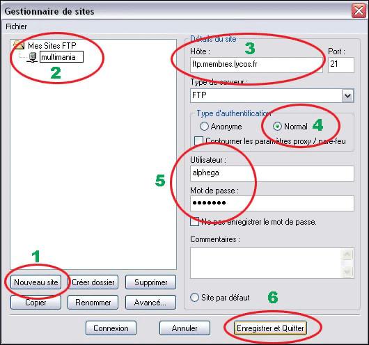 connection à un serveur FTP avec Filezilla
