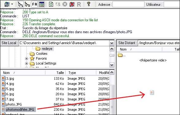 connection a un serveur ftp