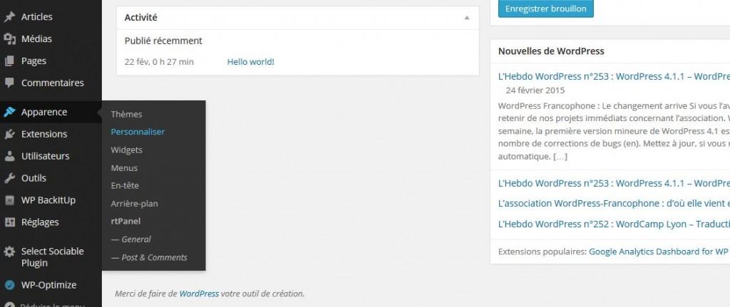 Problèmes avec l' installation WordPress en 1 clic