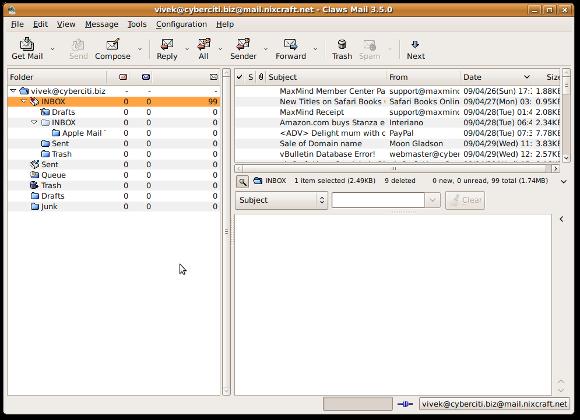 claws mail meilleur client email pour Linux Windows et Mac OS X
