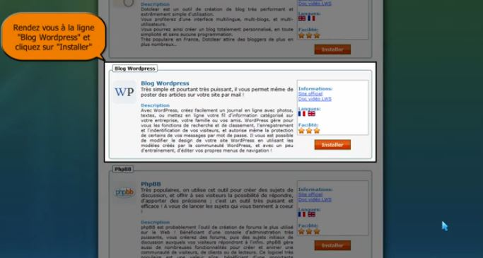 Comment installer WordPress avec LWS ?