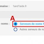 Comment modifier les serveurs de noms autoritaires chez 1and1