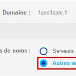 modifier les serveurs de noms autoritaires chez 1and1