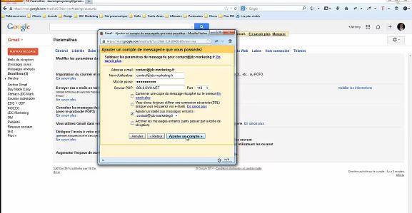 relier ovh webmail a gmail